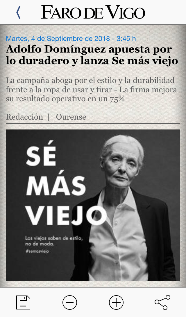 reportaje campaña Adolfo Dominguez